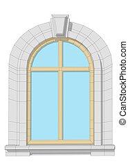 窓, アーチ形にされる