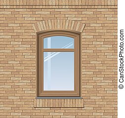 窓, 古い, アーチ形にされる