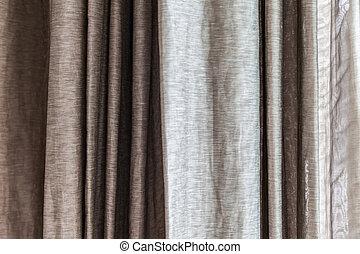 窓, 灰色, カーテン