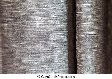 窓, 灰色, クリーム, カーテン