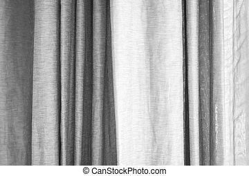 窓, 灰色, 白, カーテン