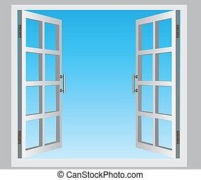 窓, 開いた