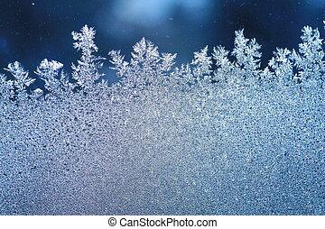窓, 霜, 氷