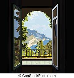 窓, 2800x2villa, 光景, 海洋