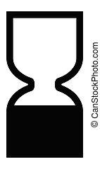 端, bbe, シンボル。, プロダクト, 化粧品, 日付, 黒, icon., 前に, 最も良く, 砂時計