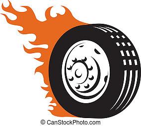 競争, fiery, タイヤ