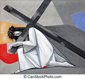 第3, 場所, 落ちる, 交差点, 時間, イエス・キリスト, 最初に