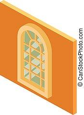 等大, アーチ形にされた窓, アイコン, スタイル