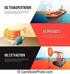 等大, 石油産業, 石油, セット, 旗