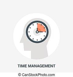 管理, 概念, 時間, アイコン