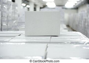 箱, パッケージ, 白, あなたの, 倉庫, 準備ができた, ロゴ, メッセージ, ∥あるいは∥