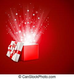 箱, マジック, 贈り物