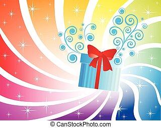 箱, 休日, 背景, 贈り物