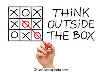 箱, 外, 考えなさい