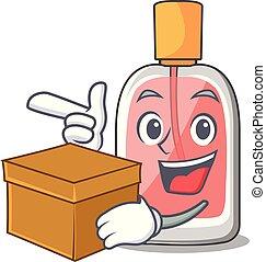 箱, 形, parfum, botlle, 漫画