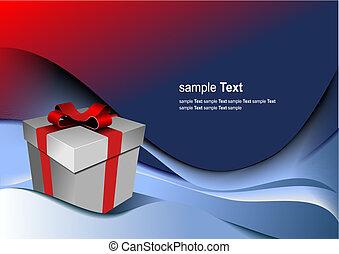 箱, 贈り物, holiday., イラスト, 明るい, ベクトル, (どれ・何・誰)も