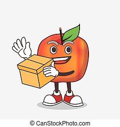 箱, honeycrisp, 特徴, マスコット, アップル, 保有物, 漫画