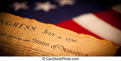 米国は 印を付ける, 背景, 宣言, 独立