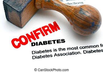 糖尿病, 確証しなさい