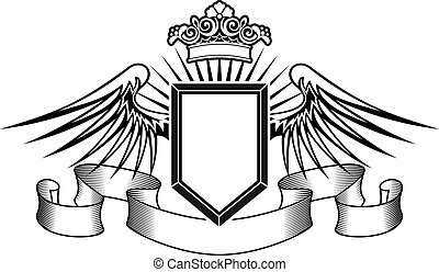 紋章学, 王冠, 保護, 天使翼