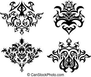 紋章, gothic, セット