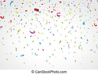 紙ふぶき, カラフルである, 白