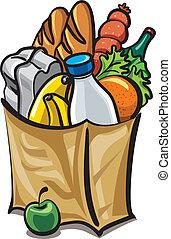 紙袋, 食物