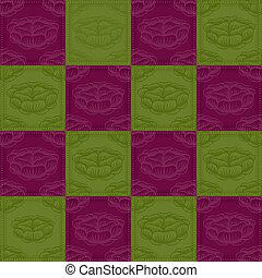 紫色の 花, 緑の背景