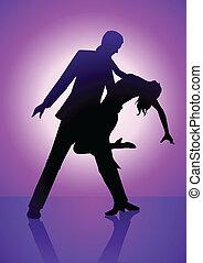 紫色, ダンス