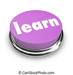 紫色, ボタン, -, 学びなさい
