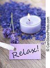 紫色, リラックスしなさい, ラベル