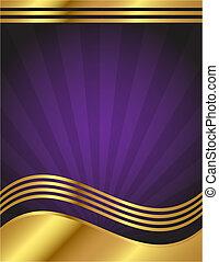 紫色, 優雅である, 金, 背景