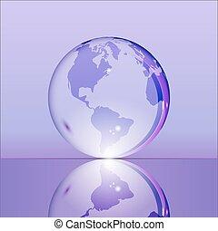 紫色, 地球の 地球, 透明, 照ること