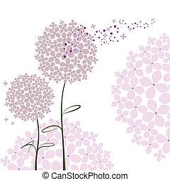 紫色, 抽象的, 花, アジサイ, 春