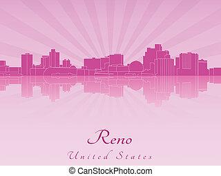 紫色, 放射, スカイライン, reno, 蘭