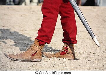 終わり, 人, 中世, 靴