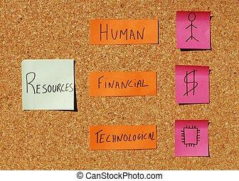 組織, 概念, 資源
