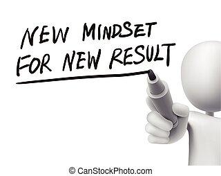 結果, 書かれた, 人, 新しい, mindset, 3d