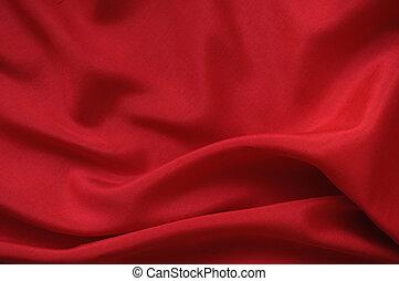 絹, 赤, ドレープ