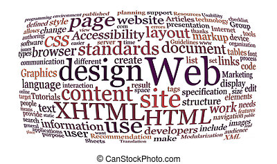 網, 単語, デザイン, 雲