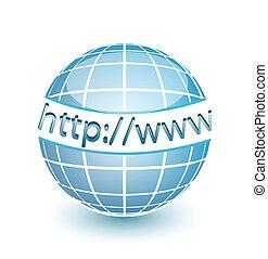 網, http, www, 地球, インターネット
