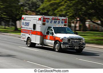 緊急事態, 医学, 動きをぼんやりさせなさい, スピード違反, サービス, 救急車