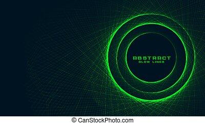 緑の概要, フレーム, 背景, 円, 作成, ライン