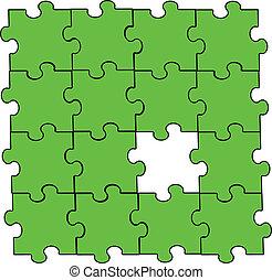 緑, パズル小片, アセンプリ