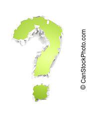 緑, 質問