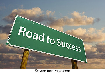 緑, 道, 成功, 印