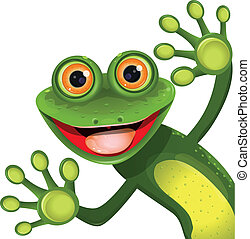 緑, 陽気, カエル