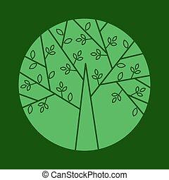 線である, 木, ベクトル, 最新流行である, ロゴ, style.