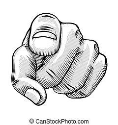 線画, とんびが指さす, レトロ