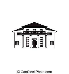 線画, 家, 大邸宅